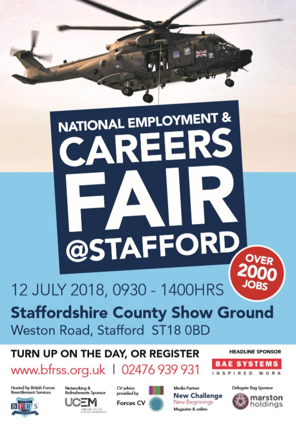 National Employment & Careers Fair Stafford Poster
